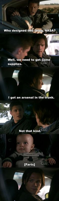 Cute and funny. Supernatural Daddys.