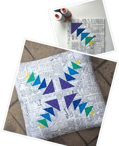 I made a new cushion using my block for the #splendidsampler. I quilted a crosshatch with my fave Grey #aurifil 2600 and it's now sitting happily with my 400 other cushions on the sofa @modafabrics @aurifilthread @martingaletpp #splendidsamplerdesigner #jeliquiltspattern #geeseobsessed