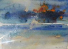 Frank Hodgkinson, Sunset & Sandbar, Watercolor, 1999,   Approx. 11x14.5 inches
