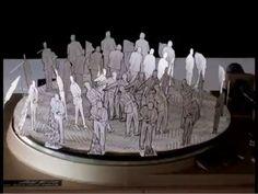 le petit théatre de l'ébriété - florent ruppert & jérôme mulot [animated phenakistoscope; http://50watts.com/Barrel-of-Monkeys; http://www.succursale.org]