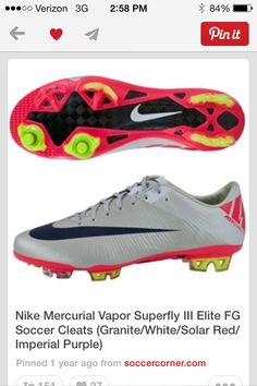sports shoes f32f1 1bd2b Soccer Boots, Soccer Gear, Nike Soccer, Football Shoes, Soccer Stuff, Play