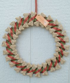 Christmas Wreath Dog Biscuits Edible