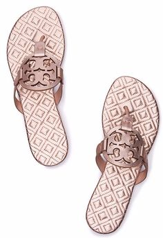 Beautiful blush pink Tory Burch Miller sandals