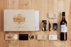 laser engraved sommelier wood kit