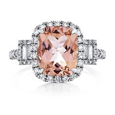 Hey, I found this really awesome Etsy listing at https://www.etsy.com/listing/235815464/morganite-engagement-ring-14kt-white
