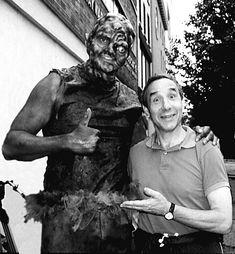 Lloyd Kaufman with The Toxic Avenger