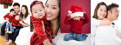 Chris Bernard   Edmonton Family Photographer  Young Asian Christmas family portrait