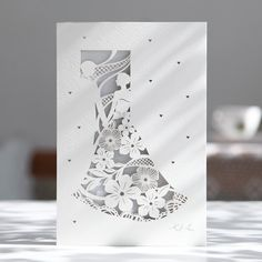 "Personalized Laser Cut Laced Wedding Invitations With Couple Product Details when folded :11.5cm x 17cm (4.53"" x 6.69"") when opened : 34.3cm x 17cm (13.50"" x 6.69"") INCLUDED IN THE..."