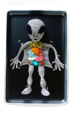 Knitted Alien Autopsy PDF Pattern by aKNITomy on Etsy, $4.50