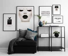Poster Prada Marfa sign in black and white. Gossip Girl Fashion Poster and Plaka . - Poster Prada Marfa sign in black and white. Gossip girl fashion poster and placard - Living Room Decor, Bedroom Decor, Wall Decor, Wall Art, Mid Century Modern Living Room, My New Room, Prada Marfa, Interior Design, Decoration