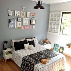 Um quarto para a gente se inspirar, mas confesso que só tenho olhos para o gato! ❤ . . . 💡Foto do @cantinho.decoracao 😍