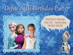 Frozen Party Invitation Card  Editable and printable
