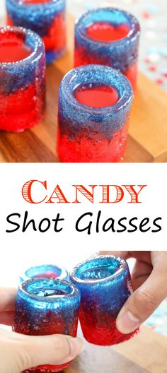 Candy Shot Glasses. Easy and fun for a summer party! #ad