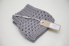 Crochet Boot Cuffs in Grey Cashmere
