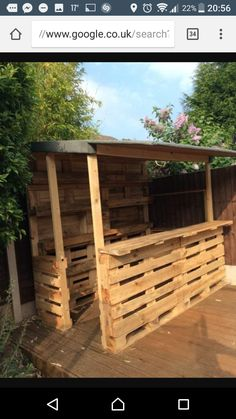 Amazing Shed Plans - Outrageous Pallet Bar Out of 12 Reclaimed Pallets DIY Pallet Bars Now You Can Build ANY Shed In A Weekend Even If You've Zero Woodworking Experience! Start building amazing sheds the easier way with a collection of shed plans! Diy Pallet Furniture, Diy Pallet Projects, Woodworking Projects Diy, Bar Furniture, Wood Projects, Furniture Storage, Teds Woodworking, Furniture From Pallets, Burlap Projects