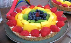 Windelpopo's Rainbow Birthday Party Fruit Tart