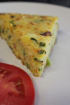 Mi Diario de Cocina: Tortilla de arroz, tocino y verduras