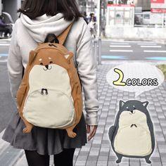 Cute Girl Kawaii Dog Lolita Canvas Backpack Rucksack Casual Travel Book Bag   R3  Unbranded d660e676d6e