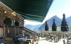 Solero Sonnenschirme Gastroschirme mit Lamellen. Maßanfertigung Redbull Seehotel Grundlsee Fine Dining, Lawn And Garden