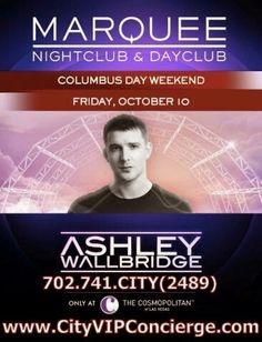 Ashley Wallbridge at Marquee Dayclub Friday October 10th. Contact 702.741.2489 City VIP Concierge for Cabana, Daybed and Bungalow Reservations and the Best of Las Vegas Pool Parties. #MarqueeLasVegas #VegasPoolParties #LasVegasPoolParties #VegasCabanas #VegasVIPServices #VIPBottleService #VegasCabanas #CityVIPConcierge CALL OR CLICK TO BOOK www.VegasCabanas.com