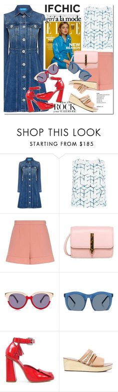 """SUMMER SALE at ifchic.com"" by vict0ria ❤ liked on Polyvore featuring M.i.h Jeans, 3x1, RED Valentino, Karen Walker, Preen, Grey Ant, Hannah Marshall, SUNO New York, Ancient Greek Sandals and summersale"
