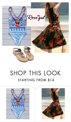 """""""Rosegal-dress bikini 24"""" by seldy-enes ❤ liked on Polyvore featuring vintage"""