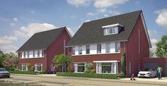 Twee-onder-Een Kap woning. dit ontwerp en het materiaalgebruik past perfect in het ontwerp van de buurt.