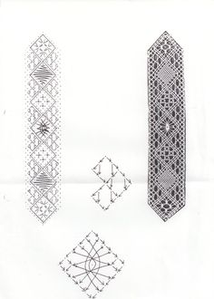 Bobbin Lace Patterns, Lacemaking, Needle Lace, Floral Tie, Bookmarks, Sewing Crafts, Crochet, Gifts, Handmade