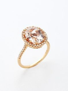 down-this-aisle:  morganite rose gold engagement ring.