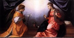 Andrea del Sarto - Annunciazione Della Scala - 1528 circa - Musei di Palazzo Pitti, Galleria Palatina, Firenze
