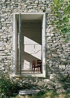 Summer house, Linescio, Switzerland (Buchner Bründler Architekten, 2011)