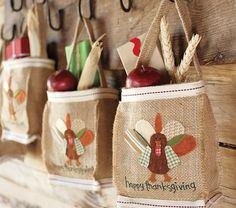 cute thanksgiving treat bags