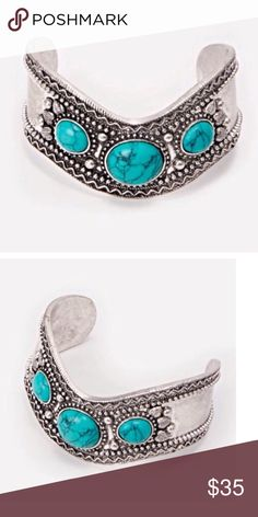 Boho Bracelet/Cuff, NWB This is truly stunning, but I find the opening too big for my wrist. Looks great as an arm cuff, but I know I would end up rarely wearing it If you would I guarantee you'll love it. Note- did not come with a tag, only the bag which is provided Jewelry Bracelets