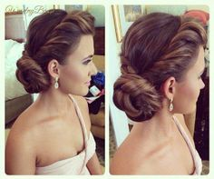 The 30 Best Wedding Bun Hairstyles Wedding bun hairstyles are the trendiest of all. There are numerous innovative hair updos for wedding. Check out our list of the best wedding bun hairstyles for simple to fashionable brides. Wedding Hairstyles For Long Hair, Fancy Hairstyles, Wedding Hair And Makeup, Hair Makeup, Hair Wedding, Side Bun Hairstyles, Bridal Hairstyles, Glamorous Hairstyles, Latest Hairstyles