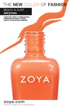 RE-PIN ME! Zoya Nail Polish in Arizona from the Beach Collection http://www.zoya.com/content/38/item/Zoya/Zoya-Nail-Polish-Arizona-ZP617.html?O=PN120521MN00138