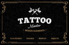 Tattoo Design Elements by Vecster on @creativemarket