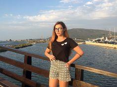 Looking over the sea ...  Total outfit @annaveneti • @kisterss_sunglasses   #lefkada #greek #island #vacay #2016 #annaveneti #kisterss #kisterss_sunglasses #kisterssseason2 #season2 #sifnoskistersssunglasses