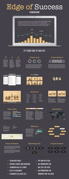 Edge Of Success PowerPoint Template (PowerPoint Templates)