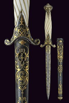 A beautiful small dagger, Russia 19th century.