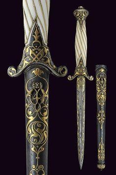 A beautiful small dagger, Russia 19th century.