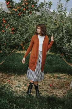 Heathered Amber Hooded Cardigan
