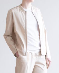 Our Dora Cotton Stretch bomber jacket paired with the Erika Cropped Cotton Stretch trousers for an easy-going spring ensemble. Available in-store and online. by norsestorewomen