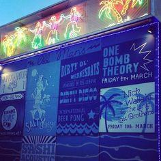 Hula gals >> palm trees >> neon #oldmans #canggu #perernan #sandbar #batubolong #byronbay #berawa #bali #seminyak #sundaysession #uluwatu #balangan #surfbali #balisurf #noosa #bellsbeach #bingin #keramas #seminyak by oldmansbali http://ift.tt/1KnoFsa