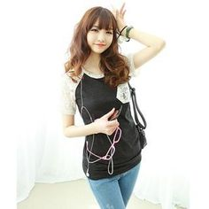 Buy 'Dodostyle – Lace Raglan Sleeve T-Shirt' with Free International Shipping at YesStyle.com. Browse and shop for thousands of Asian fashion items from South Korea and more!