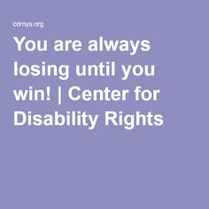ADAPT was born out of the struggle to get disabled people out of nursing homes and into a community setting