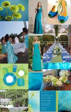 Blue Green Turquoise Wedding #Inspiration #details #wedding