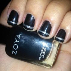 DIY manicure of the week: not your basic black