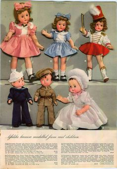 1943 ADVERT Effanbee Soldier Sailor Marquisette Majorette Bolero Jacket Doll