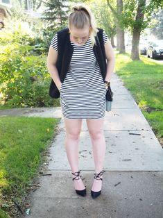 Striped Dress - Strung in Gold