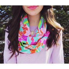 Bright floral scarf #fashion #accessories